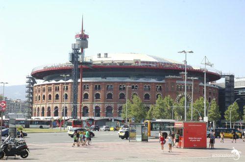 arenas de barcelona, fachada