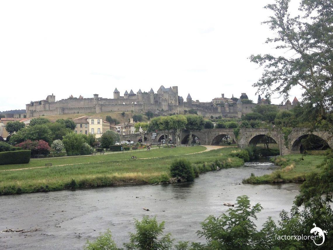 carcasona y el puente viejo