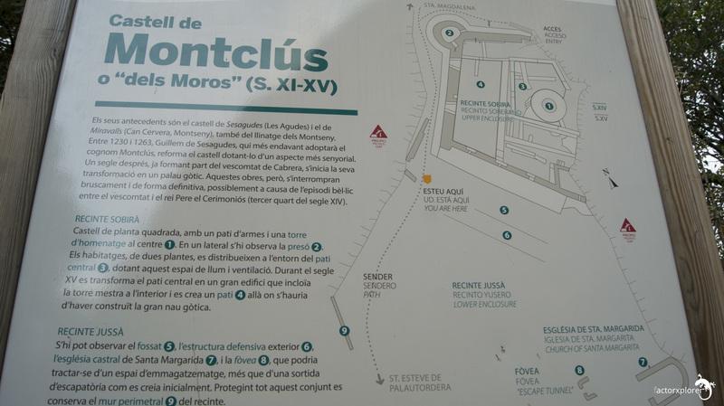 mapa y un poco de historia del castillo de montclús